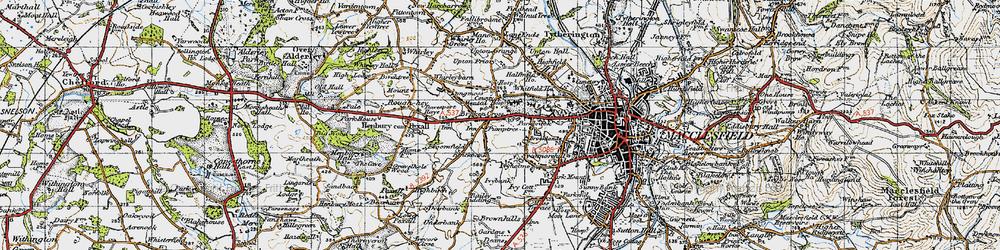 Old map of Broken Cross in 1947