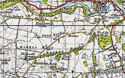 Old map of Badger Beck in 1947
