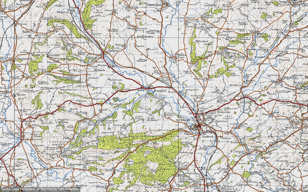 Old Map of Bromfield, 1947 in 1947