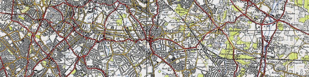 Old map of Bromley in 1946