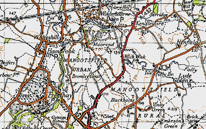 Old map of Bromley Heath in 1946