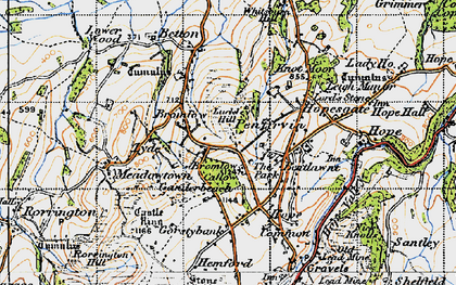 Old map of Whitsburn Hill in 1947