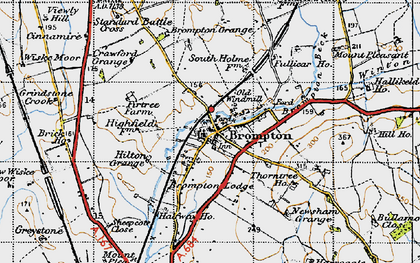 Old map of Brompton in 1947