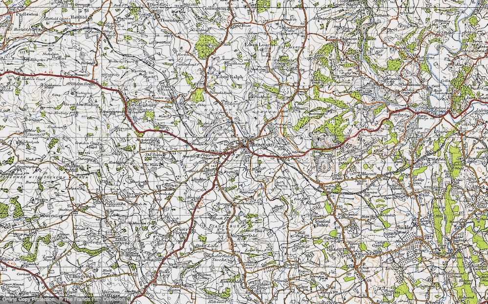 Old Map of Bromyard, 1947 in 1947