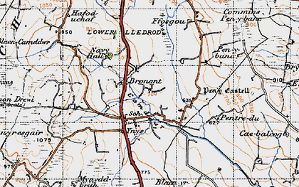 Old map of Bronant in 1947