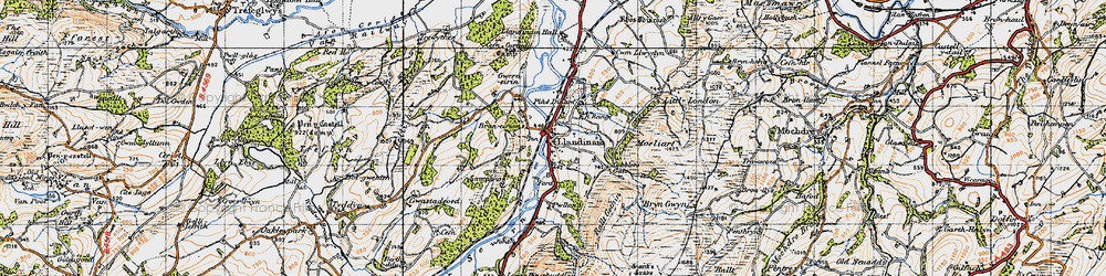Old map of Allt yr Hendre in 1947