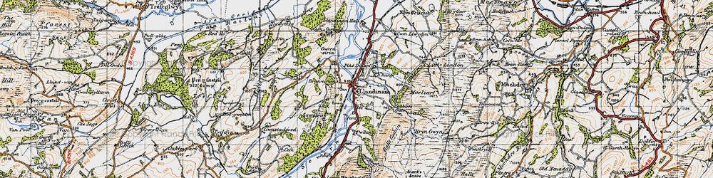Old map of Allt y Moch in 1947
