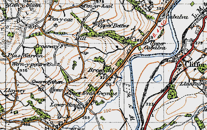 Old map of Bronydd in 1947
