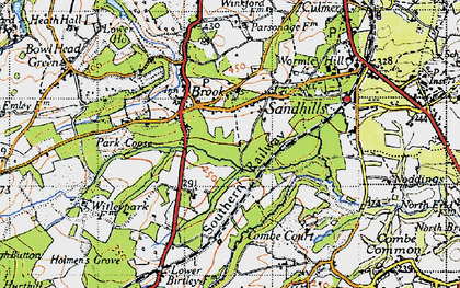 Old map of Brook in 1940