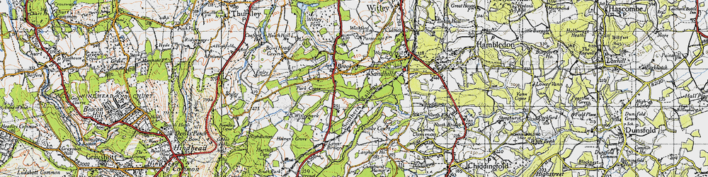 Old map of Witley Sta in 1940