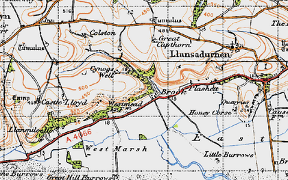 Old map of Windleway in 1946