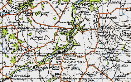 Old map of Banister Hey in 1947