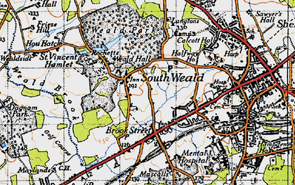 Old map of Langtons in 1946