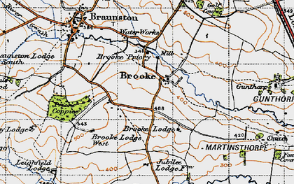 Old map of America Lodge in 1946