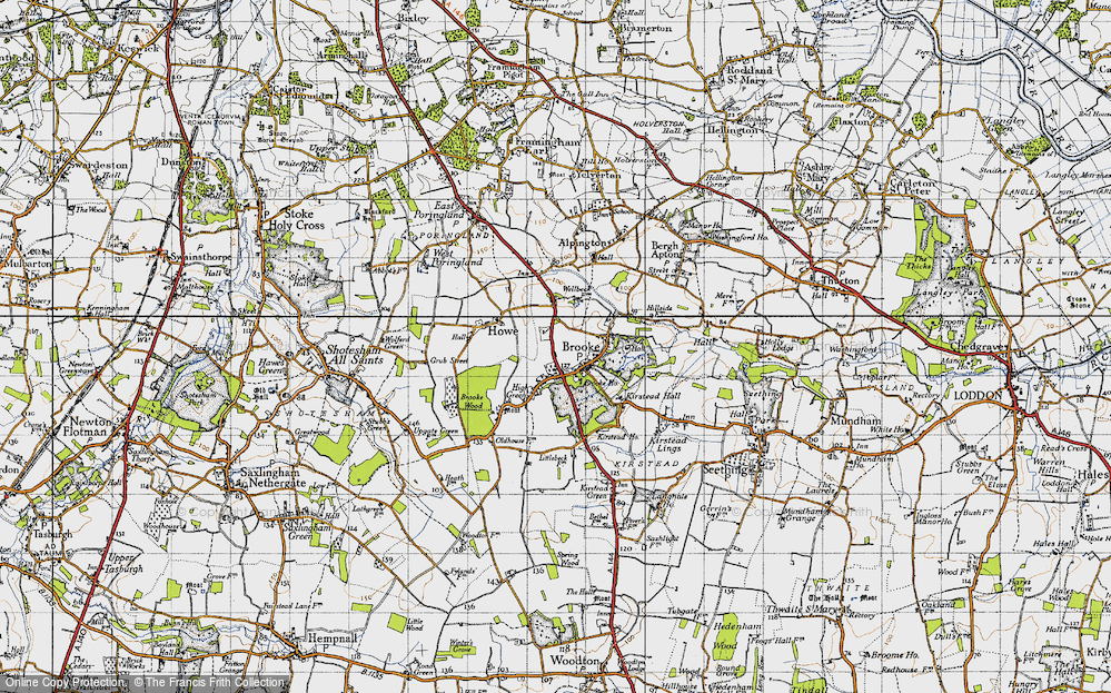 Old Map of Brooke, 1946 in 1946