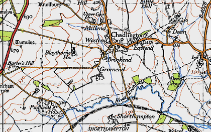 Old map of Brookend in 1946