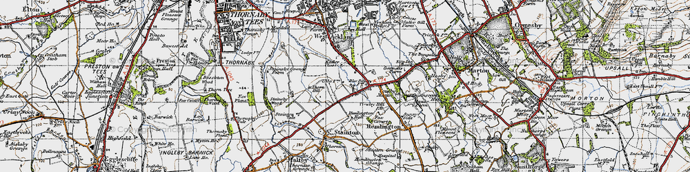 Old map of Brookfield in 1947