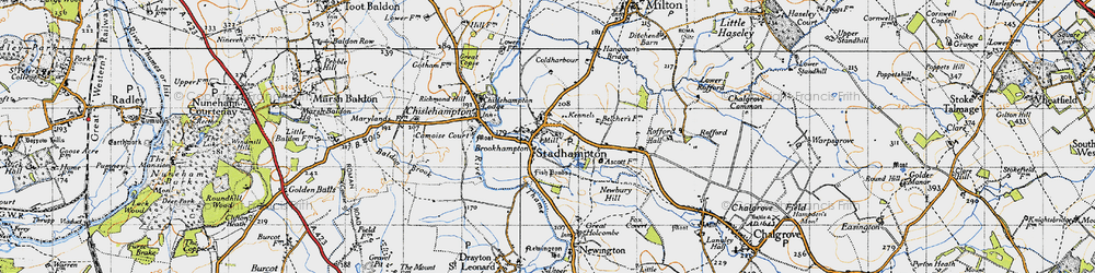 Old map of Brookhampton in 1947