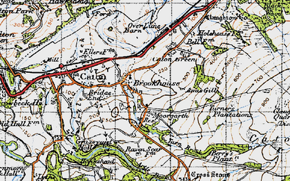 Old map of Brookhouse in 1947