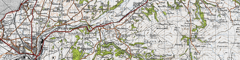Old map of Annas Ghyll in 1947
