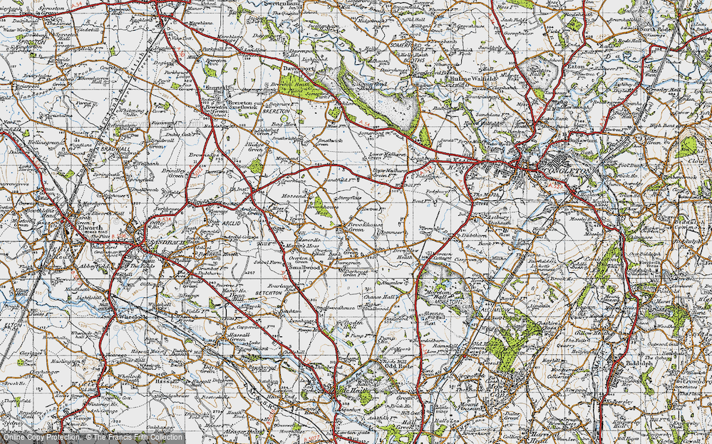Old Map of Brookhouse Green, 1947 in 1947