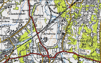 Old map of Brooklands in 1940