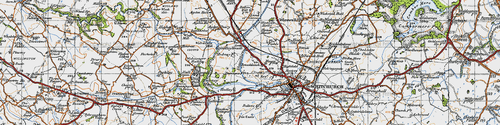 Old map of Agden Ho in 1947