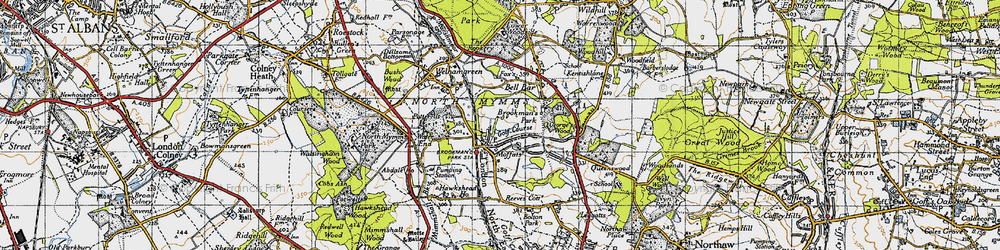 Old map of Brookmans Park in 1946