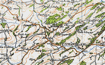 Old map of Brooks in 1947
