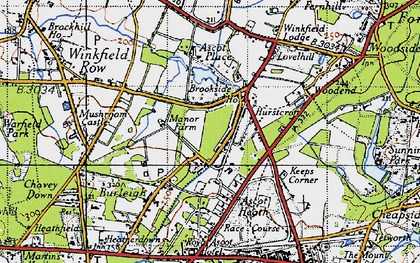 Old map of Brookside in 1940