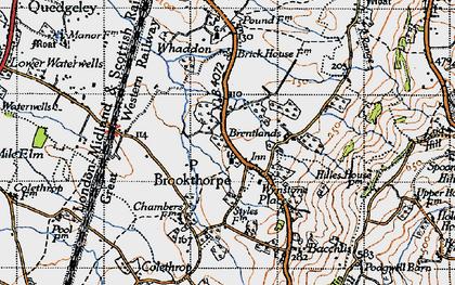 Old map of Wynstones Ho in 1946