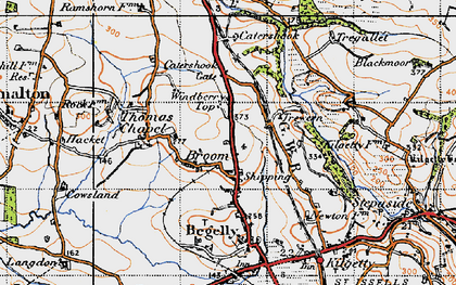 Old map of Windberry Top in 1946