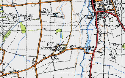 Old map of Broom in 1946