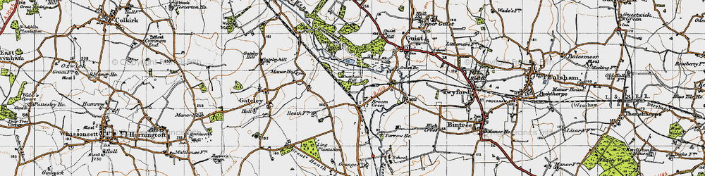 Old map of Yarrow Ho in 1946