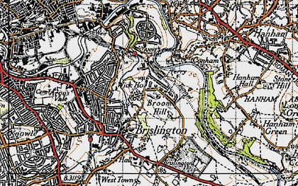 Old map of Broom Hill in 1946