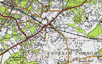 Old map of Broomhall in 1940