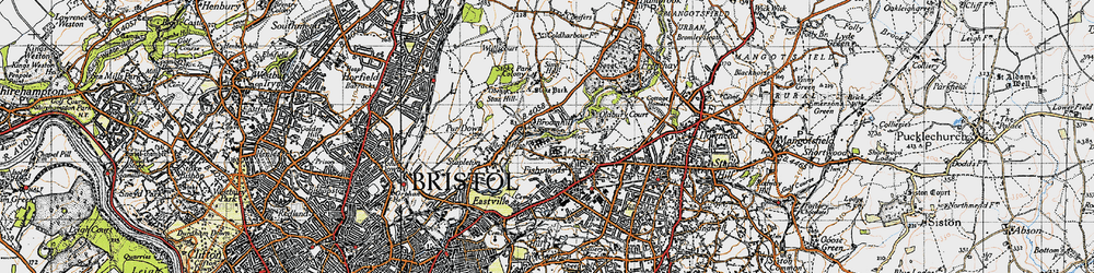 Old map of Broomhill in 1946