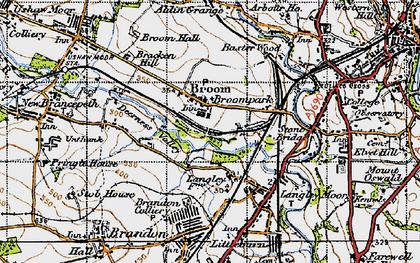 Old map of Aldin Grange in 1947