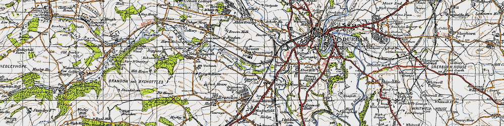 Old map of Aldin Grange in 1947