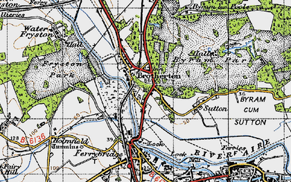 Old map of Brotherton in 1947