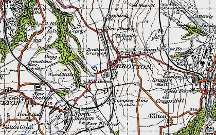 Old map of Brotton in 1947