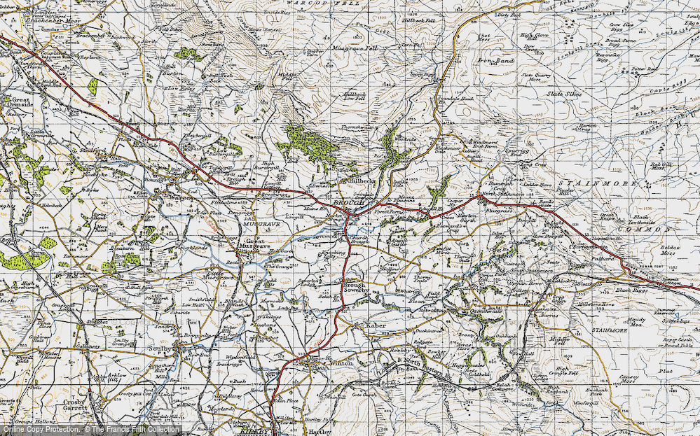 Old Map of Historic Map covering Augill Beck in 1947