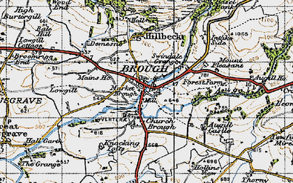 Old map of Augill Ho in 1947