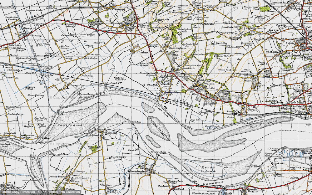 Old Map of Brough, 1947 in 1947