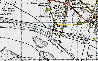 Old map of Brough in 1947