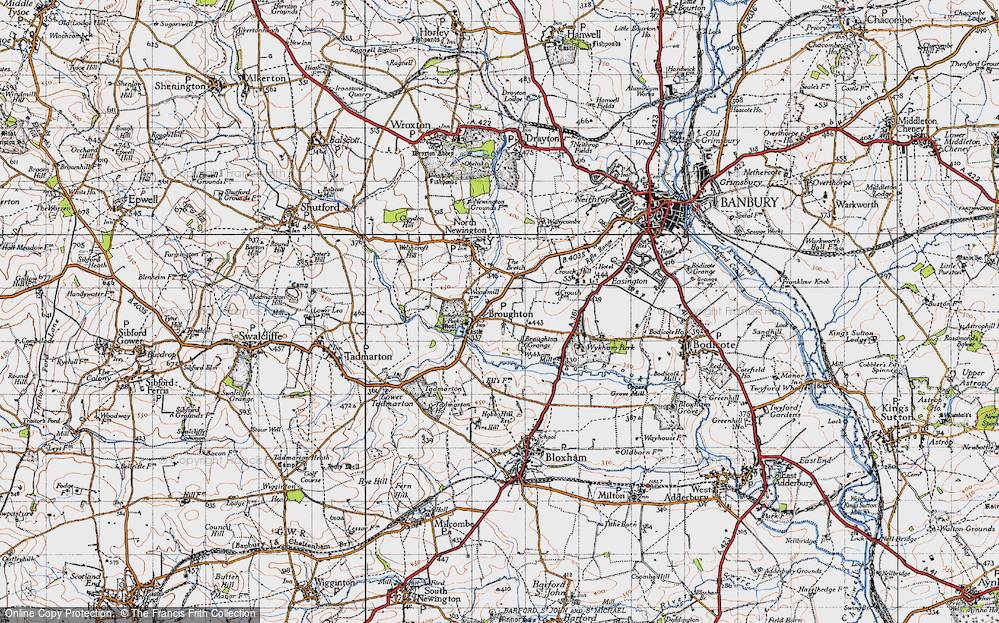 Old Map of Broughton, 1946 in 1946