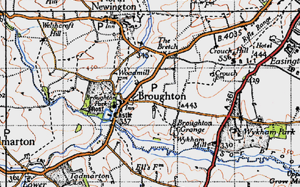 Old map of Broughton in 1946