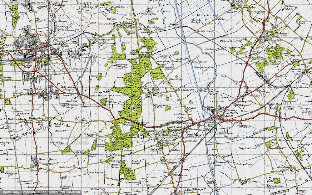 Old Map of Broughton, 1947 in 1947