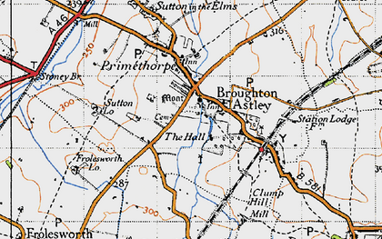 Old map of Broughton Astley in 1946