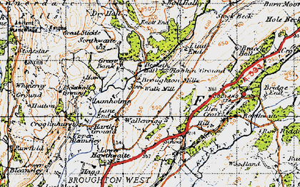 Old map of Ball Hall in 1947